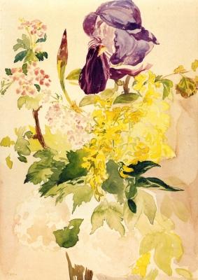 Riproduzione fiori di iris e geranio di edouard manet for Quadri fiori famosi