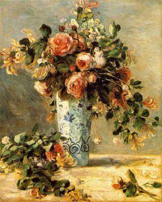 Riproduzione rose e galsomino in vaso di delft di pierre for Riproduzione rose