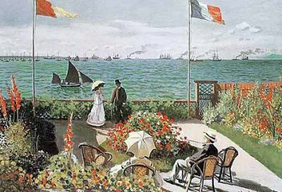 Riproduzione terrazza sul mare a sainte adresse di claude - Terrazzi sul mare ...