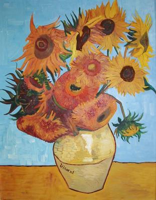 Riproduzione vasi con dodici girasoli di vincent van gogh for Girasoli di van gogh da colorare