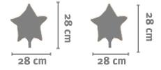 Palloncino Stella 28 Cm