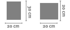 Skin Quadrato 20x30