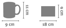 Tazze in Vetro Trasparente Personalizzata