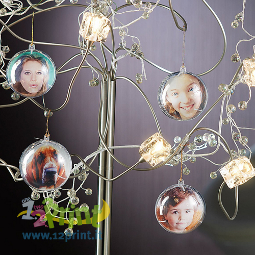Palla Natale Clear Personalizzata