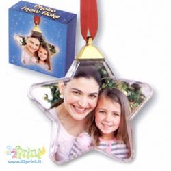 Palla Natale Clear Stella Personalizzata
