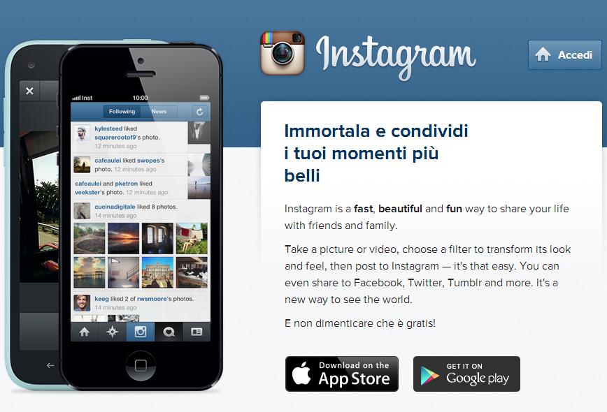 stampa da instagram